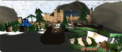 Панорама двора Хогвартса