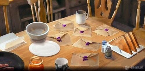 Письма на столе